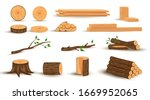 Collection Of Wooden Logs  Tree ...