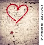 Red Love Heart Hand Drawn On...