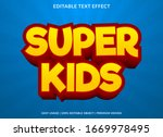 super kids text effect template ... | Shutterstock .eps vector #1669978495