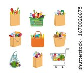 icons set of shopping paper... | Shutterstock .eps vector #1670026675