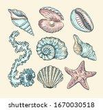 vector cartoon set with... | Shutterstock .eps vector #1670030518