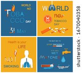 no tobacco day health is your... | Shutterstock . vector #1670040358
