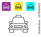 black line taxi car icon... | Shutterstock .eps vector #1670060422