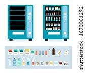 cartoon full and empty vending...   Shutterstock .eps vector #1670061292
