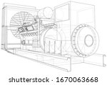generator. diesel and gas... | Shutterstock .eps vector #1670063668