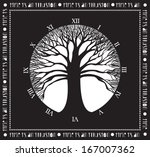 tree of time   monochromatic... | Shutterstock .eps vector #167007362
