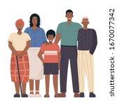 african family portrait....   Shutterstock .eps vector #1670077342