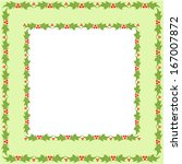 xmas motif and border | Shutterstock .eps vector #167007872