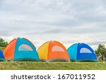 Row Of Tent On Hill At Doi Sme...