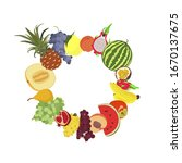 fruit vector circle made of...   Shutterstock .eps vector #1670137675