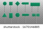 set of green blank road signs... | Shutterstock .eps vector #1670146885