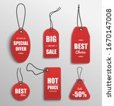 red price tag set with special... | Shutterstock .eps vector #1670147008