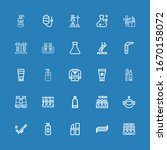 editable 25 tube icons for web... | Shutterstock .eps vector #1670158072