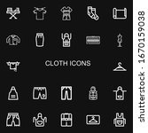 editable 22 cloth icons for web ... | Shutterstock .eps vector #1670159038