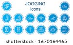 editable 14 jogging icons for... | Shutterstock .eps vector #1670164465