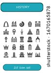 history icon set. 25 filled...   Shutterstock .eps vector #1670165878