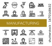 set of manufacturing icons.... | Shutterstock .eps vector #1670168632