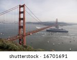 Queen Mary Under Golden Gate...