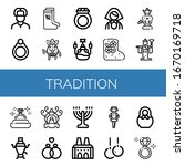 set of tradition icons. such as ...