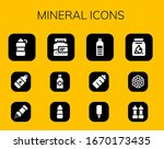 mineral icon set. 12 filled... | Shutterstock .eps vector #1670173435