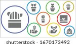 flora icon set. 9 filled flora... | Shutterstock .eps vector #1670173492