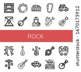 Rock Icon Set. Collection Of...