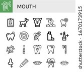Set Of Mouth Icons. Such As...