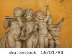 Statue Of 4 Little Angels...