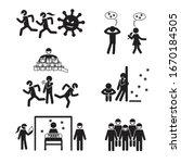 virus and virus fear icon set....   Shutterstock .eps vector #1670184505