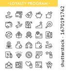 loyalty program. vector set of...   Shutterstock .eps vector #1670191762