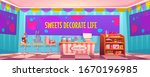 candy shop empty interior with... | Shutterstock .eps vector #1670196985
