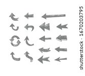 hand drawn arrow collection.... | Shutterstock .eps vector #1670203795