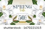 spring sale poster with... | Shutterstock .eps vector #1670221315