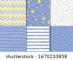 set of simple lilac seamless...   Shutterstock .eps vector #1670233858