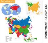 vector map of eurasia drawn... | Shutterstock .eps vector #167024132