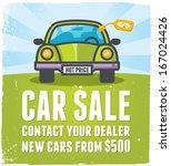 car sale design template | Shutterstock .eps vector #167024426