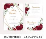 wedding invitation cards with... | Shutterstock .eps vector #1670244358