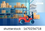 Vector Of A Warehouse Man...