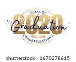 graduation label. lettering...   Shutterstock .eps vector #1670278615