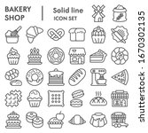 bakery line icon set. bakery... | Shutterstock .eps vector #1670302135