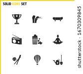 hobby icons set with radio ...