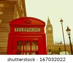 vintage look traditional red... | Shutterstock . vector #167032022