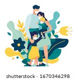 family wearing protective... | Shutterstock .eps vector #1670346298