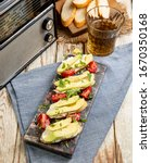 bruschetta set for wine.... | Shutterstock . vector #1670350168