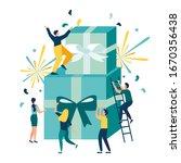 vector illustration of joyful...   Shutterstock .eps vector #1670356438
