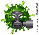 coronavirus evil virus cartoon... | Shutterstock .eps vector #1670407042
