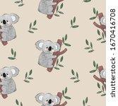 cute cartoon koala bears... | Shutterstock .eps vector #1670416708
