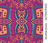 fashion gypsy ethnic pattern... | Shutterstock .eps vector #1670429542