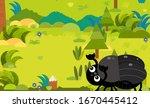 cartoon scene with different... | Shutterstock . vector #1670445412