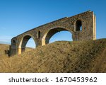old railway viaduct ruined big... | Shutterstock . vector #1670453962
